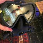 OTS Spectrum full face diving mask with reading lenses installed