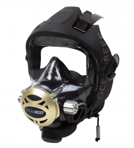 Oceanreef Predator, a full face diving mask from See the Sea RX available with corrective lenses