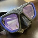 Scuba diving prescription mask from scubapro with two lenses for distance and near correction